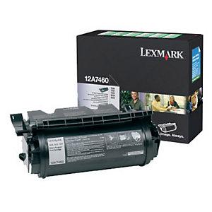 Toner Lexmark n°12A7460 noir pour imprimantes laser