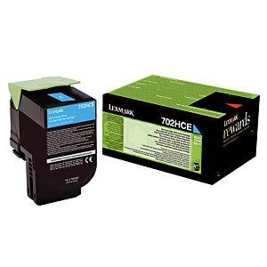 Toner Lexmark n°70C2HCE cyan pour imprimantes laser
