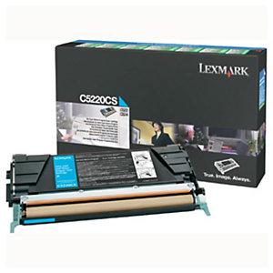 Toner Lexmark n°C5220CS cyan pour imprimantes laser