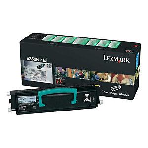 Toner Lexmark n° E352H11E noir pour imprimantes laser