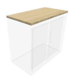 Top de finition pour armoire à rideaux Généric  L.80 cm - Chêne