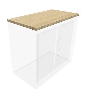 Top de fintion pour armoire à rideaux Généric  L.100 cm - Chêne