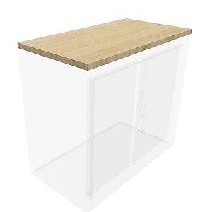 Top de fintion pour armoire à rideaux Généric  L.120 cm - Chêne