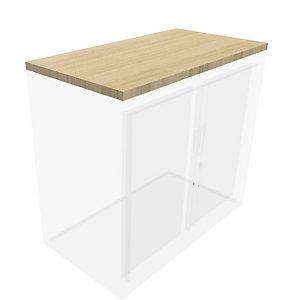 Top de fintion pour armoire à rideaux Généric  L.80 cm - Chêne