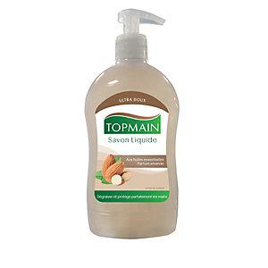 Topmain Savon liquide pour les mains, parfum amande, Flacon pompe 500 ml