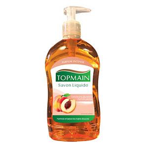 Topmain Savon liquide pour les mains, parfum pêche, Flacon pompe 500 ml