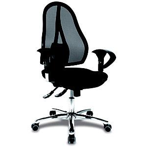 TOPSTAR Open Point® Deluxe SY Silla de oficina, malla y tela, altura 103-111 cm, negro