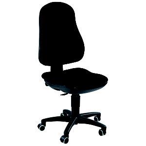TOPSTAR Support Contact Silla de oficina, tela, altura 99-112 cm, negro
