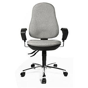 TOPSTAR Support SY Silla de oficina, tela, altura 99-112 cm, gris