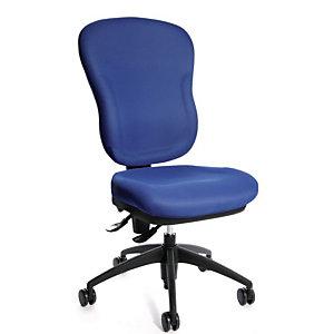 TOPSTAR Wellpoint Silla de oficina, tela, altura 100-112 cm, azul