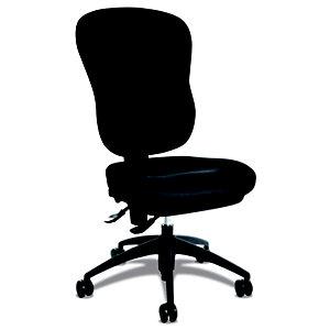 TOPSTAR Wellpoint Silla de oficina, tela, altura 100-112 cm, negro