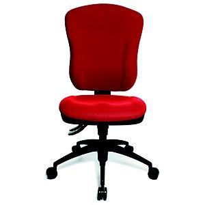 TOPSTAR Wellpoint Silla de oficina, tela, altura 100-112 cm, rojo