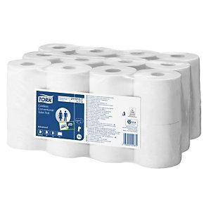 Tork Advanced papier toilette en rouleaux standard sans tube, double épaisseur, gaufré, 400 feuilles - Blanc