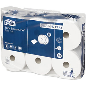 Tork Advanced T8 Jumbo Rollo de papel higiénico, 2 capas, 1150 hojas, en relieve, 134 mm, blanco