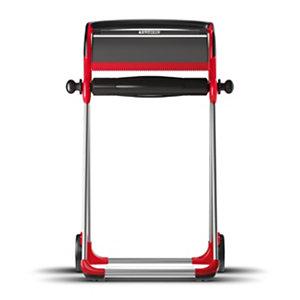 Tork Dispensador de rollo de toallitas de manos móvil de funcionamiento manual rojo y gris humo 101 x 64,6 x 53cm
