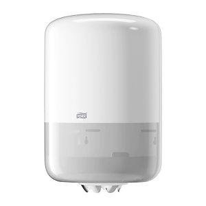 Tork Distributeur d'essuie-mainsM2 à dévidage central, plastique, blanc
