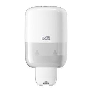 Tork Minidispensador de jabón líquido y en loción de plástico blanco 500 ml 206 x 112 x 114 mm