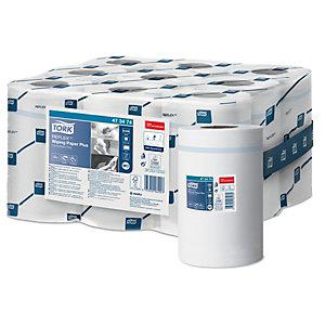Tork papier d'essuyage Mini Reflex M3 recyclé, double épaisseur, bobine de 200 feuilles, 194 mm, blanc