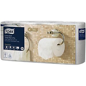 Tork Papier toilette triple épaisseur Extra doux T4 - Rouleau de 155 feuilles - Blanc