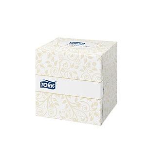 Tork Premium Mouchoirs double épaisseur extra-doux - Boîte cubique de 100 feuilles - Blanc