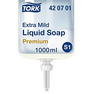 Tork Premium S1 Jabón líquido de manos, extra suave, cartucho, sin perfume, 1 l