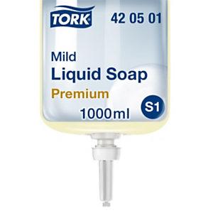 Tork Premium S1 Jabón líquido de manos, suave, con perfume, 1 l, cartucho