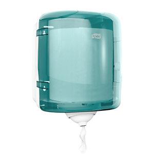 Tork Reflex distributeur de papier d'essuyage à dévidage central feuille à feuille - pour bobine mini M3 - Bleu turquoise