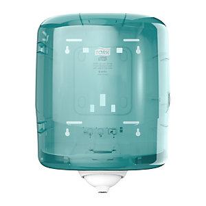 Tork Reflex®, distributeur de papier d'essuyage à dévidage central feuille à feuille - pour Maxi bobine M4 - Bleu turquoise