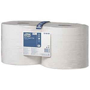 Tork Rouleau d'essuyage multi-usages double épaisseur blanc système W1 largeur 23,5 cm longueur 340 m