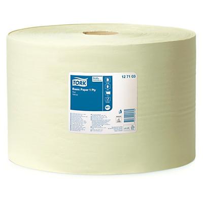 Tork® tørkepapir - Basic W1 - gult papir på rull