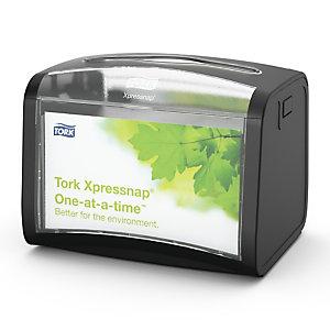 Tork Xpressnap Dispensador de servilletas de plástico negro de 155 x 201 x 150 mm