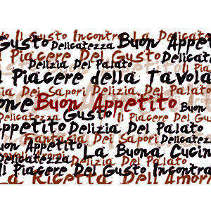 Tovaglietta americana monouso in carta liscia stampata, Riciclabile, 30 x 40 cm, Design Frasi in Cucina (confezione 500 pezzi)