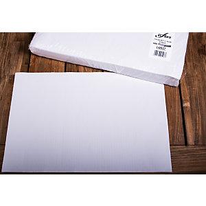 Tovaglietta monouso in carta, Cellulosa, 33 x 50 cm, Bianco (confezione 2.000 pezzi)