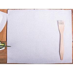 Tovaglietta monouso in carta, Goffrata, 25 x 30 cm, Bianco (confezione 500 pezzi)