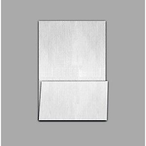 Tovagliolo monouso in carta, 1 velo, 17 x 25 cm, Bianco (confezione 2.000 pezzi)