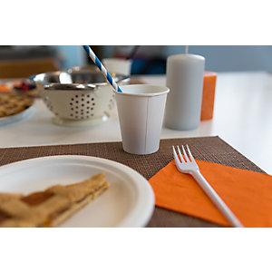 Tovagliolo monouso in pura cellulosa, 2 veli, 25 x 25 cm, Arancio (confezione 100 pezzi)