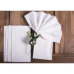 Tovagliolo monouso in pura cellulosa, 2 veli, Piega 1/8, 40 x 40 cm, Bianco (confezione 400 pezzi)