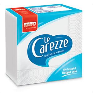 Tovagliolo monouso in pura cellulosa Le Carezze , 2 veli, Goffrato, 30 x 30 cm, Bianco (confezione 100 pezzi)