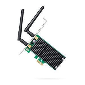 TP-Link AC1200, Interno, Inalámbrico, PCI Express, WLAN, 867 Mbit/s, Negro, Verde ARCHER T4E