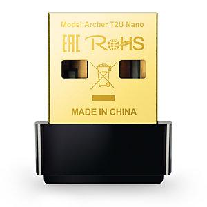 TP-Link Archer T2U Nano, Alámbrico, USB, WLAN, Wi-Fi 5 (802.11ac), 633 Mbit/s, Negro