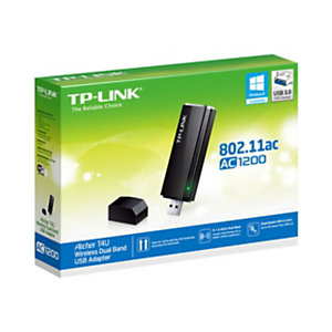 TP-Link ARCHER T4U, Inalámbrico, USB, WLAN, Wi-Fi 5 (802.11ac), 1200 Mbit/s, Negro