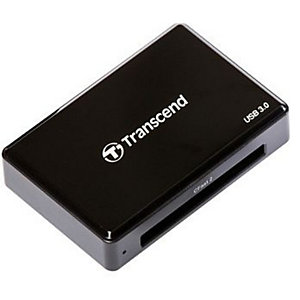 Transcend CFast 2.0 USB3.0, CF, CF Type II, Noir, CE/FCC/BSMI/KC/RCM/EAC, USB 3.2 Gen 1 (3.1 Gen 1), 5 V, 67,6 mm TS-RDF2