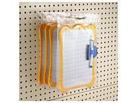 Transparant plastic zakje in hoogglans met ophanggleuf