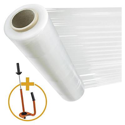 Transparante rekfolie voor handmatig wikkelen, 450 mm