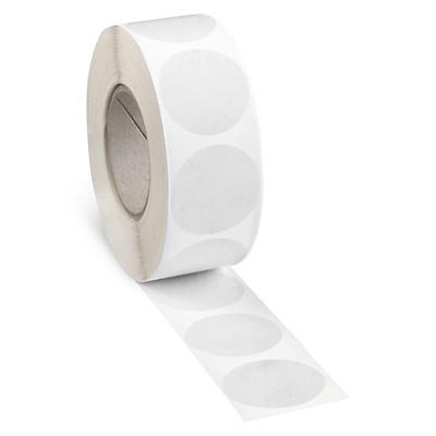 Pastille adhésive transparente en boîte distributrice##Transparante ronde etiketten