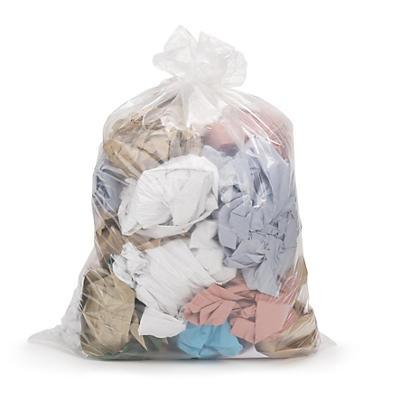 Transparente affaldssække