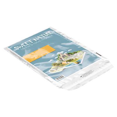 Transparente Folien-Versandtaschen (mit und ohne Aufdruck: Für postamtliche Prüfung hier öffnen)