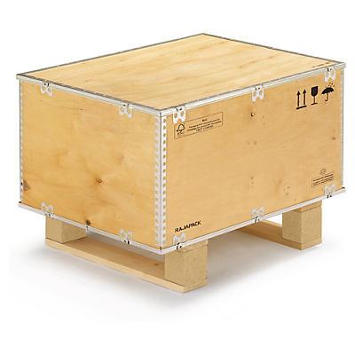 Transportlådor av plywood med pallbotten