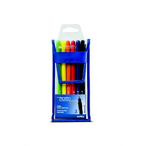 TRATTO Pen Metal, Fineliner, Punta fine, Fusto in colori assortiti, Inchiostro in colori assortiti (confezione 6 pezzi)