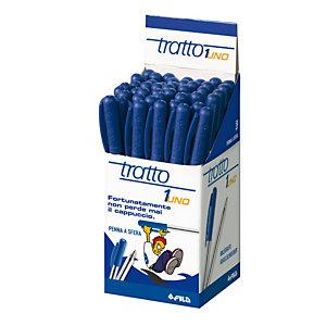 TRATTO Penna a sfera con cappuccio - punta 1,0mm  - blu - Tratto  - conf. 50 pezzi